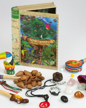 World of Amazonia Tin Book Box